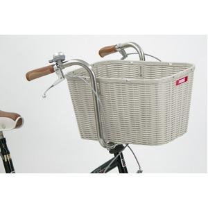 後ろ用バスケット(自転車カゴ) 大型サイズ 【OGK】RB-002 Bグレー(灰) 〔自転車パーツ/アクセサリー〕