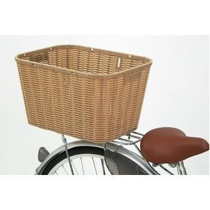 後ろ用バスケット(自転車カゴ) 大型サイズ 【OGK】RB-002 ライトブラウン 〔自転車パーツ/アクセサリー〕
