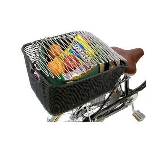 飛び跳ね防止ネット(自転車カゴ用カバー) ロングサイズ 【OGK】 TN-5 こげ茶 〔自転車パーツ/アクセサリー〕