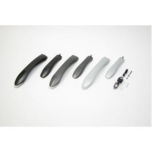 ATB用フェンダー(泥除け)【OGK】MF-018ガンメタ〔自転車パーツ/アクセサリー〕
