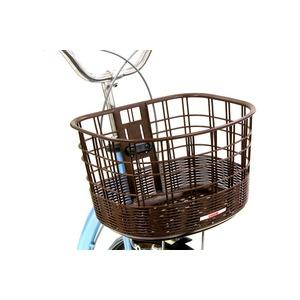 大きめ籐風フロントバスケット(自転車カゴ) 前用 【OGK】FB-037K ダークブラウン 〔自転車パーツ/アクセサリー〕