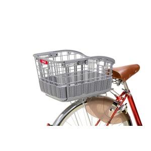 伸縮式自転車カゴ(固定式スライド後ろ用バスケット) 【OGK】RB-037 ブラック(黒) 〔自転車パーツ/アクセサリー〕