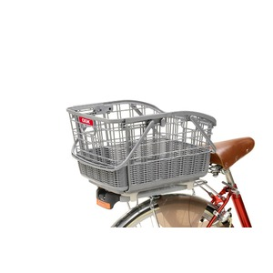 伸縮式自転車カゴ(着脱スライド後ろ用バスケット) 【OGK】RB-037B2 アルミシルバー(銀) 〔自転車パーツ/アクセサリー〕