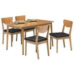 ダイニングセット 5点 【ダイニングテーブル&チェア4点】 木製 ナチュラル 【組立品】