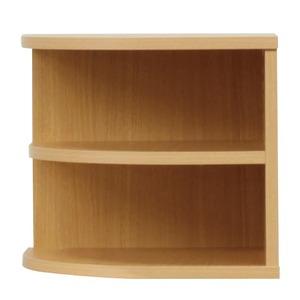 オープンエンド/オープンシェルフ 【2段/幅43cm】 木製(天然木) 日本製 ナチュラル 【完成品】