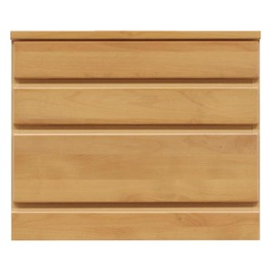 3段チェスト/ローチェスト 【幅60cm】 木製(天然木) 日本製 ナチュラル 【完成品】