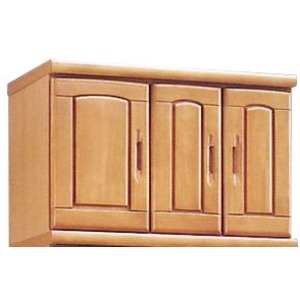 上置き(シューズボックス用棚) 幅75cm 木製 扉/棚板付き 日本製 ナチュラル 【Horizon3】ホライゾン3 【完成品 開梱設置】 - 拡大画像