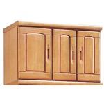 上置き(シューズボックス用棚) 幅75cm 木製 扉/棚板付き 日本製 ナチュラル 【Horizon3】ホライゾン3 【完成品 開梱設置】