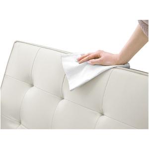 ソファーベッド 【シングルサイズ】 PVCレザー(合皮) クッション2個/肘付き アイボリー 【Milano】ミラノ