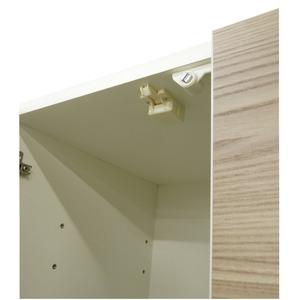 ダイニングボード(食器棚) 【板扉/上置き付き...の紹介画像4