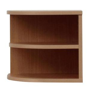 オープンエンド/オープンシェルフ 【2段/幅43cm】 木製(天然木) 日本製 ブラウン 【完成品 開梱設置】