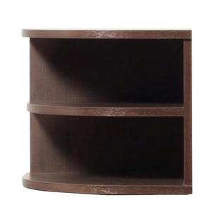オープンエンド/オープンシェルフ 【2段/幅43cm】 木製(天然木) 日本製 ダークブラウン 【完成品 開梱設置】