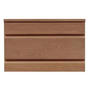 2段チェスト/ローチェスト【幅60cm】木製(天然木)日本製ブラウン【完成品】