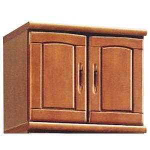 上置き(シューズボックス用棚) 幅60cm 木製 扉/棚板付き 日本製 ブラウン 【Horizon3】ホライゾン3 【完成品】 - 拡大画像