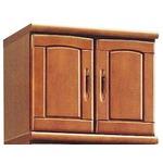 上置き(シューズボックス用棚) 幅60cm 木製 扉/棚板付き 日本製 ブラウン 【Horizon3】ホライゾン3 【完成品】の画像