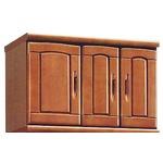 上置き(シューズボックス用棚) 幅75cm 木製 扉/棚板付き 日本製 ブラウン 【Horizon3】ホライゾン3 【完成品】の画像