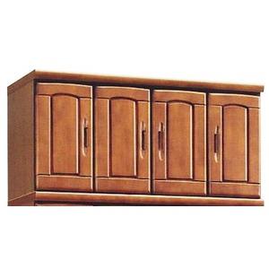 上置き(シューズボックス用棚) 幅100cm 木製 扉/棚板付き 日本製 ブラウン 【Horizon3】ホライゾン3 【完成品】
