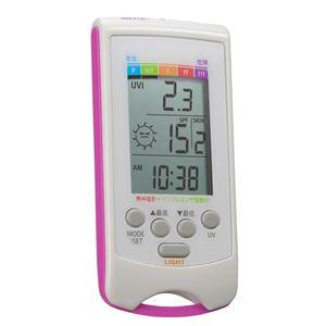 カスタム インフルエンザ指数計・熱中症計付UVチェッカー UVH-01