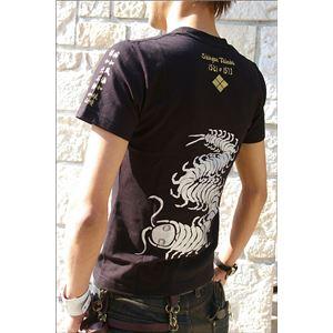 戦国武将Tシャツ 【武田信玄 復刻】 Mサイズ 半袖 綿100% ブラック(黒) 〔Uネック おもしろ〕