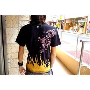 戦国武将Tシャツ 【前田慶次】 XLサイズ 半袖 綿100% ブラック(黒) 〔メンズ 大きいサイズ Uネック おもしろ〕