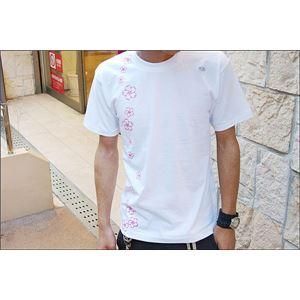 戦国武将Tシャツ 【前田慶次】 Mサイズ 半袖 綿100% ホワイト(白) 〔Uネック おもしろ〕