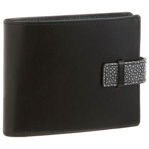 ColoreBorsa(コローレボルサ)二つ折りコインケース付き財布ブラックMG-001