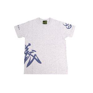 戦国武将Tシャツ【直江兼続義】XLサイズ半袖綿100%白杢(ホワイト)〔メンズ大きいサイズUネックおもしろ〕