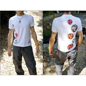 戦国武将Tシャツ 【小早川家 右三つ巴】 XL...の紹介画像3