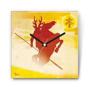 蜻蛉切・本多忠勝 戦国ファブリック掛時計