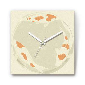 鯉 戦国ファブリック掛時計