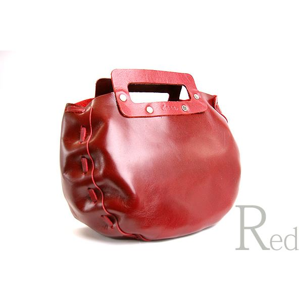★dean(ディーン) bowling bag ハンドバッグ 赤f00