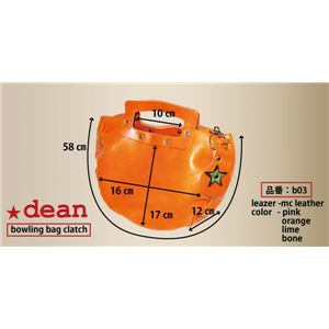 ★dean(ディーン) bowling bag ハンドバッグ 赤 f04