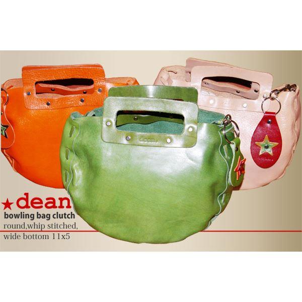 ★dean(ディーン) bowling bag ハンドバッグ ライムf00