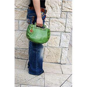 ★dean(ディーン) bowling bag ハンドバッグ ライム h02