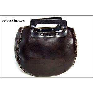★dean(ディーン) bowling bag ハンドバッグ 茶 h01