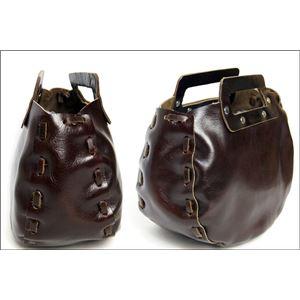 ★dean(ディーン) bowling bag ハンドバッグ 茶 h02