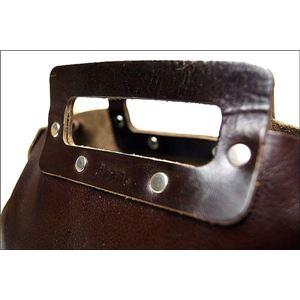 ★dean(ディーン) bowling bag ハンドバッグ 茶 h03