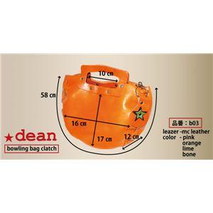 ★dean(ディーン) bowling bag ハンドバッグ 茶 f04
