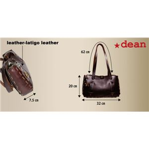 ★dean(ディーン) small whip stitched tote トートバッグ シルバー h03