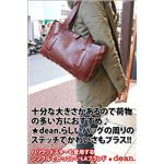 ★dean(ディーン) small whip stitched tote トートバッグ tan(赤茶)