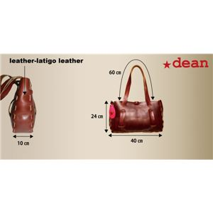 ★dean(ディーン) small whip stitched tote トートバッグ tan(赤茶) f05