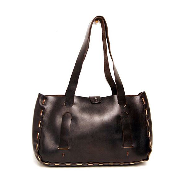 ★dean(ディーン) small whip stitched tote トートバッグ 茶f00