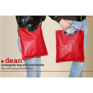 ★dean(ディーン) rectangular bag ハンドバッグ 赤 h01