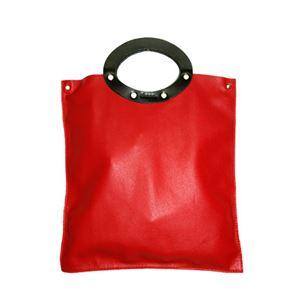 ★dean(ディーン) rectangular bag ハンドバッグ 赤 h02
