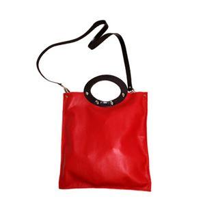 ★dean(ディーン) rectangular bag ハンドバッグ 赤 h03