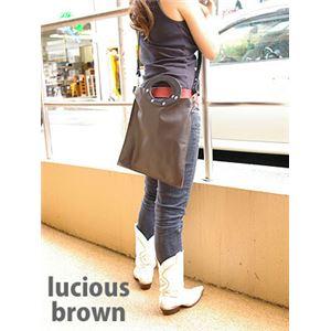 ★dean(ディーン) rectangular bag ハンドバッグ 茶 h01