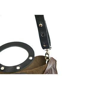★dean(ディーン) rectangular bag ハンドバッグ 茶 h02