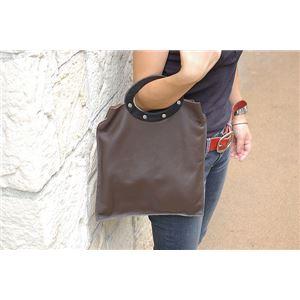 ★dean(ディーン) rectangular bag ハンドバッグ 茶 f04