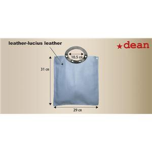 ★dean(ディーン) rectangular bag ハンドバッグ 茶 f06