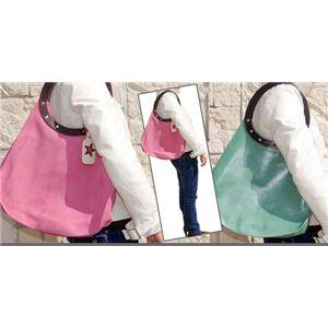 ★dean(ディーン) machine stitch tear-drop ショルダーバッグ ピンクの画像